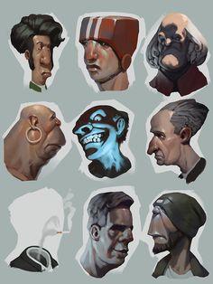 sketches, Roman Semenenko on ArtStation at https://www.artstation.com/artwork/EN6de