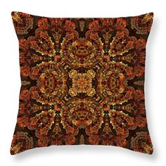 """Stone Tapestry Throw Pillow (18"""" x 18"""") by Anthony Weinedel.  Our throw pillows are made from 100% spun polyester poplin fabric and add a stylish statement to any room.  Pillows are available in sizes from 14"""" x 14"""" up to 26"""" x 26"""".  Each pillow is printed on both sides (same image) and includes a concealed zipper and removable insert (if selected) for easy cleaning."""