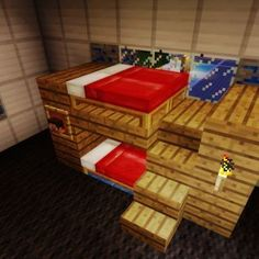 Minecraft Bunkbeds! If you like this picture, click on it to take you to the Crafty Minecraft website for more photos, vids, and info.