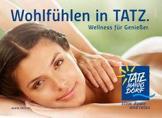 Bad Tatzmannsdorf | Project: Kampagne | By Smolej & Friends, Vienna | CD: Günther Smolej | Grafik: Gregor Schabsky | Foto: Roland Unger | Model: Zoé | www.smolej.at Slow Down, Relax, Wellness, Billboard, Vienna, Bad, Advertising, Friends, Creative