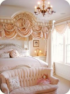 7 Handsome Cool Tricks: Shabby Chic Home Furnishings shabby chic sofa cabbage roses.Shabby Chic Interior Little Girl Rooms shabby chic deko herbst. Dream Rooms, Dream Bedroom, Home Bedroom, Bedroom Ideas, Bedroom Designs, Peach Bedroom, Royal Bedroom, Girls Bedroom, Bedroom Inspiration