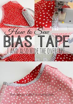 Sewing Crafts Attaching Bias Tape can make any sewing project stand out. Bias Tape is perfect… - Attaching Bias Tape can make any sewing project stand out. Bias Tape is perfect for craft projects, too. Learn How to Sew Bias Tape the correct way. Sewing Basics, Sewing Hacks, Sewing Tutorials, Sewing Crafts, Sewing Tips, Sewing Ideas, Basic Sewing, Dress Tutorials, Sewing Essentials
