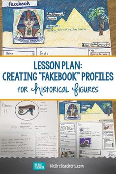 I Have My Students Create Fakebook Pro Social Studies Projects, Social Studies Lesson Plans, 6th Grade Social Studies, Social Studies Classroom, Social Studies Activities, History Activities, Teaching Social Studies, Elementary Social Studies, Social Studies Notebook