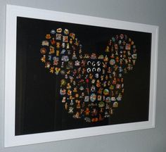 But with with tiny pics of all our Disney trips - for the playroom. BTW, these are pins not pictures.