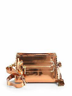 Jaden Metallic Leather Shoulder Bag