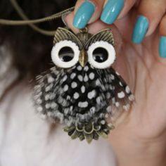 owl jewelry | Owl necklace. | Buhos