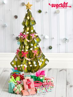 A Very Merry Miniature Christmas Tree by Thienly Azim | SVGCuts.com Blog