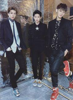 Exo The Celebrity January 2015 Issue.<<Sehun Chanyeol Tao
