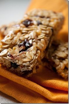 Cherry almond granola Bars. Other good recipes here also.. Chick lost 135 lbs. made these a few days ago but added chocolate chips.