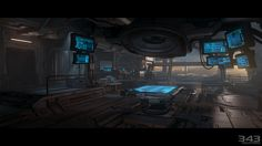 Spaceship Bridge Interior | This entry was posted in Halo 4 by Sal . Bookmark the permalink .
