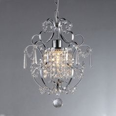 Chrome Crystal Chandelier | Overstock.com Shopping - The Best Deals on Chandeliers & Pendants