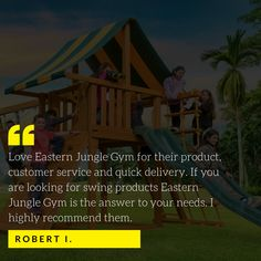 We've spent our time building a reputation known for the safest, strongest swing sets on the market delivered and installed with fabulous customer service! Swing Set Hardware, Swing Sets, Customer Service, Marketing, Building, Swings, Customer Support, Buildings, Construction