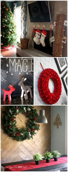 BEAUTIFUL CHRISTMAS HOME TOUR! This contemporary home is festive, simple and beautiful for Christmas. Check out the full tour at Designer Trapped in a Lawyer's Body.