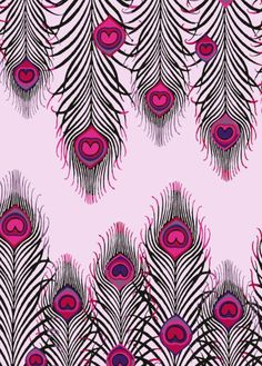 Close up of the MW Peacock Heart Print. First seen on summer dresses and maxi skirts for spring/summer the peacock motif has long been at the heart of Matthew Williamson. Leopard Print Wallpaper, Purple Wallpaper, Wallpaper Backgrounds, Feather Wallpaper, Wallpapers, Peacock Pattern, Peacock Art, Feather Pattern, Peacock Feathers