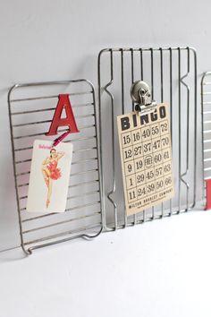 cooling racks = memo boards