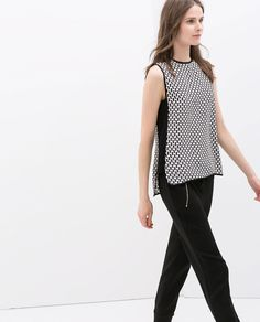 Image 3 of CONTRAST PRINT TOP from Zara