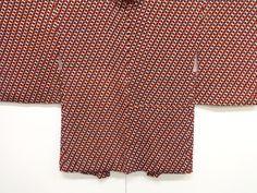 大正ロマン 錦紗抽象模様長羽織