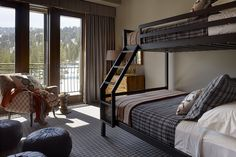 Bunk up! Even kids can appreciate this stylish room with a view.