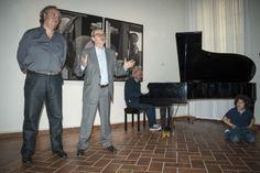 Con Roberto Mutti e il maestro Luca Prandi alla presentazione del mio lavoro.