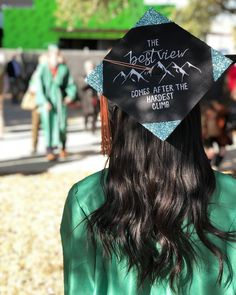 Katie Okay (@katiieokay)'s the best view comes after the hardest climb UNT grad cap design Quotes For Graduation Caps, College Graduation Pictures, Graduation Cap Designs, Graduation Cap Decoration, Nursing Graduation, College Graduation Parties, Grad Cap, Graduation Ideas, Cap College