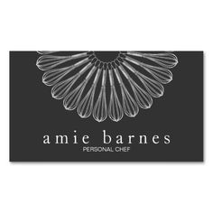 Personal Chef Whisk Logo Black Catering Business Cards