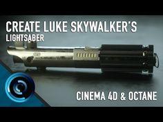 Cinema 4D and Octane Render - Create Luke Skywalker's Lightsaber