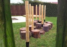 Timber Poles are responsibly sourced and produced. This is the answer for a natural trail that offers balance and agility in a guise of a fun area to be pla