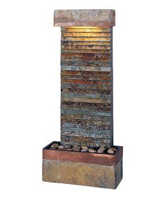 Take a look at this Copper Skyler Natural Slate Horizontal Fountain by Design Craft on #zulily today!