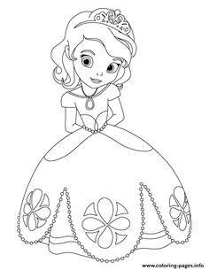 Print cute princess sofia disney coloring pages