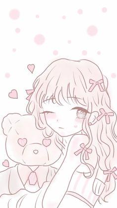 Kawaii Cute Wallpapers, Cute Pastel Wallpaper, Cute Anime Wallpaper, Wallpaper Iphone Cute, Kawaii Art, Kawaii Anime Girl, Anime Girl Cute, Anime Art Girl, Kawaii Drawings