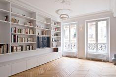 Meuble À Bouteilles Contemporain Salon with Tagre Blanche by Atelier Ferret Architectures at France