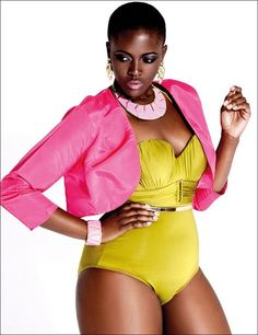 We need to see more diversity in the modeling industry.. check out plus size model Philomena Kwoa