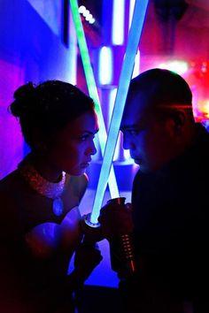 Light saber photo op