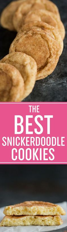 THE BEST SNICKERDOODLE COOKIES. A thick and chewy cookie with a glass of cold milk. @browneyedbaker