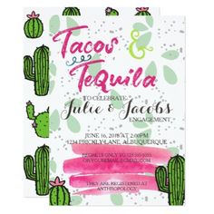 #engagement #party #invitations - #Tacos and Tequila Engagement Party Card