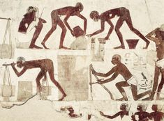 Adobe makers, brick makers. Tomb Of Rekhmire. 18th Dynasty Photograph