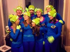 Disney pixar fancy dress group team costumes toy story little green aliens the claw DIY homemade outfits