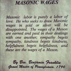 """A """"masons"""" wage"""