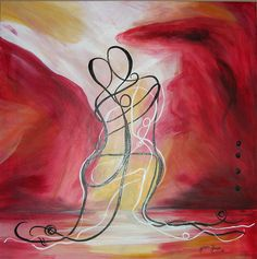 Lovers Embrace - Painting by: Heather Hurzeler