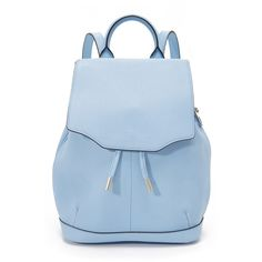 Rag & Bone Mini Pilot Backpack (8.765 UYU) ❤ liked on Polyvore featuring bags, backpacks, light blue, blue backpack, miniature backpack, leather backpack, blue leather backpack and mini leather backpack