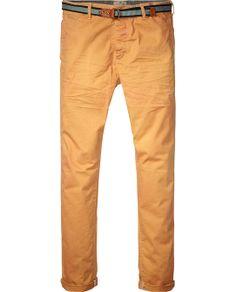 Basic relaxed slim fit chino pants | Pants | Men Clothing at Scotch & Soda