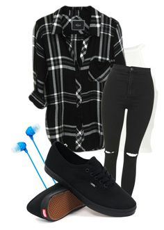 """Untitled #294"" by ticci-toby ❤ liked on Polyvore featuring Sony, Topshop and Vans"