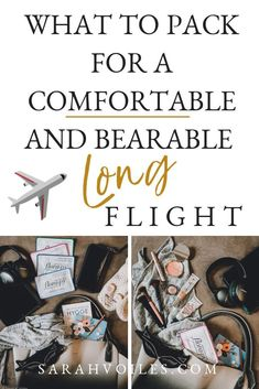 Click through for a list of everything I pack in my carry on to make my flight as comfortable and bearable as possible. Having the right items with you can make your flight feel like its going by more quickly! Especially on long flights! Packing Tips, Travel Packing, Travel Tips, Travel Hacks, Travelling Tips, Travel Checklist, Travel Info, Travel Advice, Carry On Bag Essentials