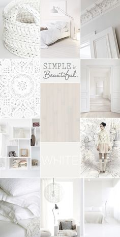 BOHEMIAN RHAPSODY | All white.. everything. We are loving romantic boho-chic homes in pure white enriched with elegant wood textures, soft cottons and luxurious wools, lace and linens.