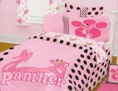 details about pink panther, bedding set, twin | best pink panthers