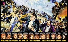 Poster artwork for the star-studded Poseidon Adventure Classic Movie Stars, Classic Movies, The Poseidon Adventure, Movie Blog, Star Cast, The Duff, Snake Skin, All Star, Movie Posters