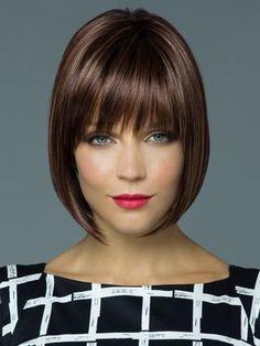 """It can not be repeated enough, bob is one of the most versatile looks ever. We wear with style the French """"bob"""", a classic that gives your appearance a little je-ne-sais-quoi. Here is """"bob"""" Despite its unpretentious… Continue Reading → Modern Bob Hairstyles, Choppy Bob Hairstyles, Wig Hairstyles, Bangs Hairstyle, Asymmetrical Bob Haircuts, Super Short Hair, 100 Human Hair Wigs, Box Braids Styling, Hair Type"""