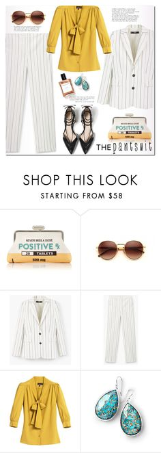 """""""The Pantsuit"""" by rosie305 ❤ liked on Polyvore featuring Sarah's Bag, Wildfox, MANGO, Mulberry, Ippolita, Zara and thepantsuit"""