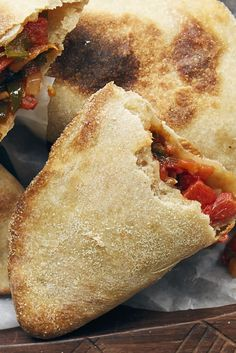 Spicy Tomato-Filled Tunisian Flatbreads Recipe