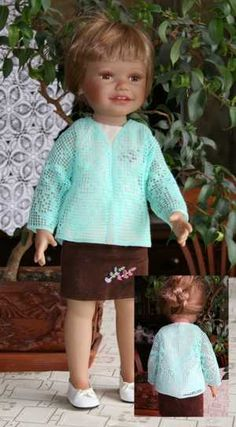 Advanced Embroidery Designs - FSL Crochet Butterfly Cardigan for 18-in. Doll